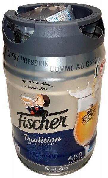 Fischer bier blonde 5 Liter 6,0%vol. mit Zapfhahn Partyfass