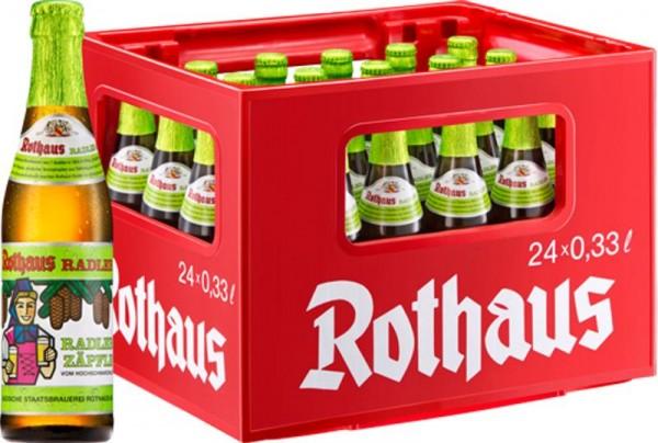 24 x Rothaus Tannenzäpfle Radler 0,33 L 2,4% Alkohol Originalkiste MEHRWEG