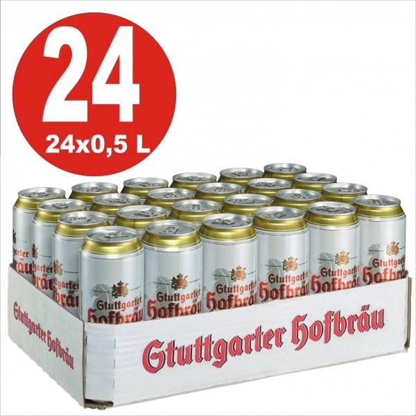 24x0,5L Dosen Stuttgarter Hofbräu Pilsner 4,9% Vol.-_EINWEG