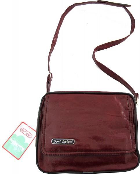 Bon Voyage Falttasche Reisetasche und Handtasche Rotbraun