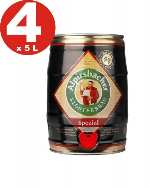 4 x Alpirsbacher Spezial 5,2% vol. 5 Liter Partyfass