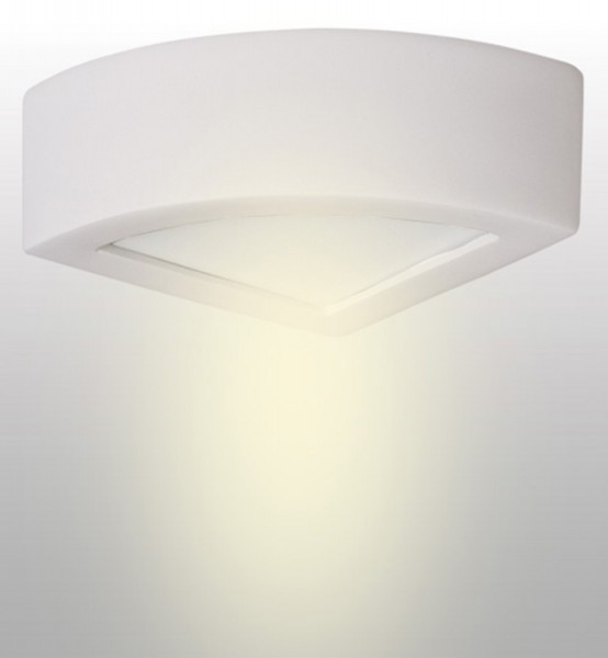 021/K20 - Lampex Wandleuchte Atena 20 weiß ceramic/glass 10 x 20 cm