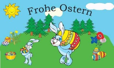 Fahne Frohe Ostern 3 - 90 x150 cm
