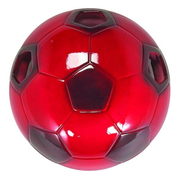 383/PCE - Lampex Wandleuchte Fußball rot ceramic 28 x 28 cm