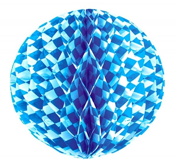 Wabenball Bayern Ø 30 cm Bayrisch Blau schwer entflammbar