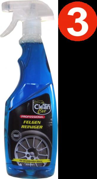 3 x Elina Felgen Reiniger Professional 500 ml Sprühflasche