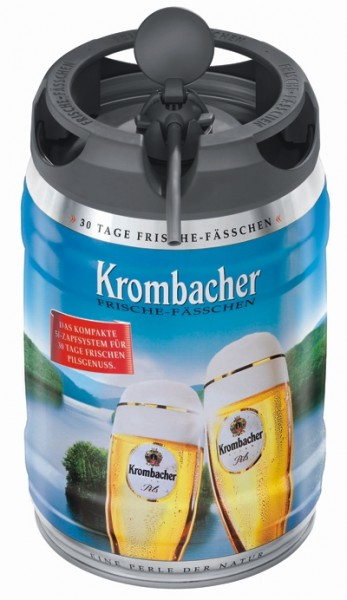 Krombacher Pils Frische-Fässchen, 5 Liter 4,8% vol Partyfass