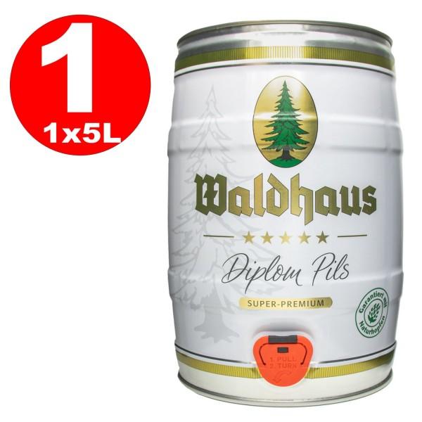 Waldhaus diplom pils 5 Liter 4,9% vol. Partyfass