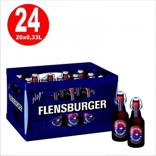 20 x Flensburger Winterbock 0,33l, 7 % vol Originalkiste MEHRWEG REDUZIERT MHD: 25.10.2019