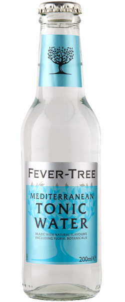 24 x Fever-Tree MEDITERRANEAN TONIC WATER 2ooml Glasflasche Mehrweg