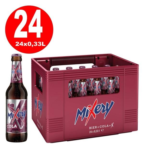 24 x Karlsberg Mixery Bier+Cola 0,33L Flasche 3,1% vol. Originalkiste MEHRWEG