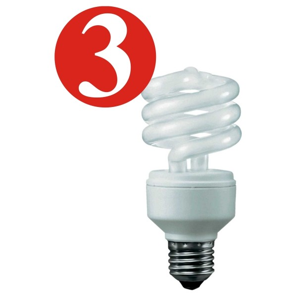 3x Osram Energiesparlampe Duluxstar Minitwist 13W E27 Warm Light