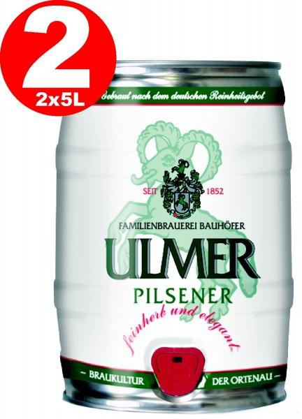 2 x Ulmer Pilsner Partyfass 5,0 Liter 5,2% vol. REDUZIERT MHD: 30.12.19