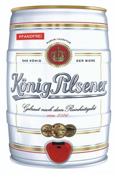 König Pilsener 5 Liter Partyfass 4,9% vol - EINWEG