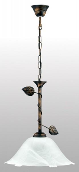 090/Z - Lampex Pendelleuchte Bluszcz 1 metal/glass 77 x 36 cm
