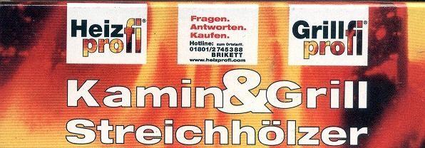 10x Kamin und Grill Streichhölzer - 19 Stück, ca. 9.5 cm