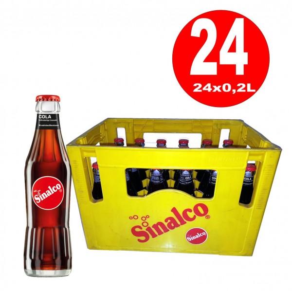 24 x Sinalco Cola 0,2L Originalkiste Glasflasche MEHRWEG