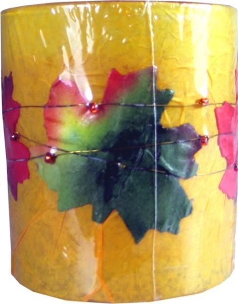 Dekoglaskerze mit Herbstmotiv
