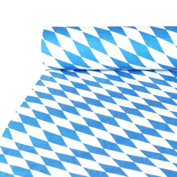 Papiertischtuch Bayern mit Damastprägung 10 m x 1 m Bayrisch Blau