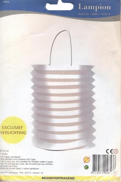 Laterne Lampion Zylinderform ca. 16cm