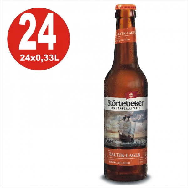 24 x Störtebeker Baltik-Lager 0,33 Originalkiste 5,5% Vol. alc MEHRWEG