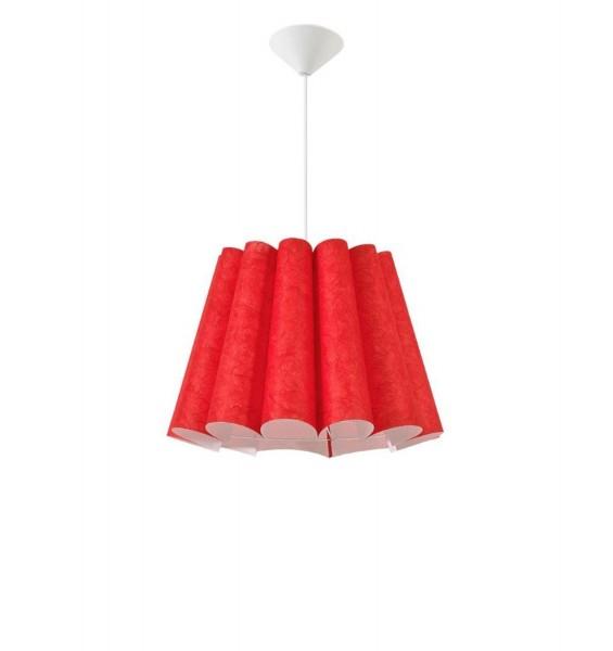 367/Z2 cze - Lampex Pendelleuchte Genua Z2 rot PVC/shade PVC 80 x 45 cm
