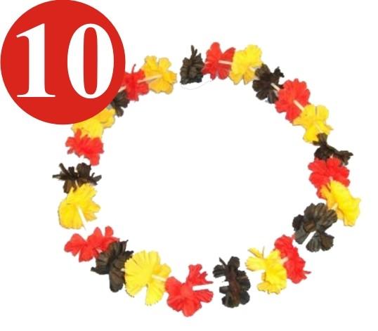 10 x Blumenkette Deutschland 46cm Hawaikette