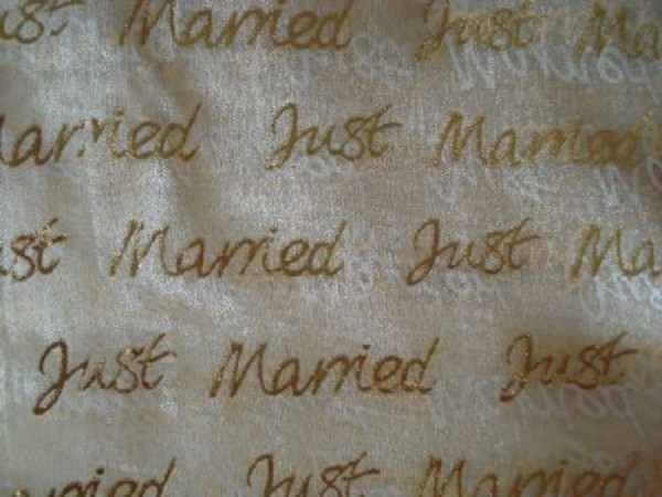 Dekostoff Organza Hochzeit just married