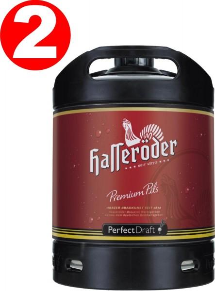2 x Hasseröder Perfect Draft Premium Pils 6 Liter Fass 4,9 % vol. MEHRWEG