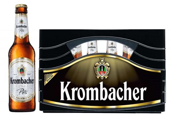 24 x Krombacher Pils 0,33L 4,8% vol.Originalkiste MEHRWEG REDUZIERT MHD: 11/19