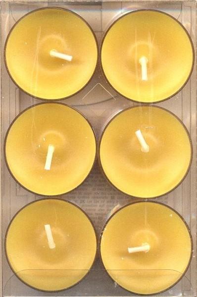 6 Teelichter Verschiedene Farben