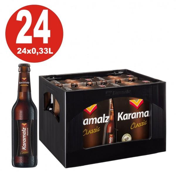 Karamalz Classic Malzdrink - Alkoholfrei 24x0,33l - Originalkiste MEHRWEG