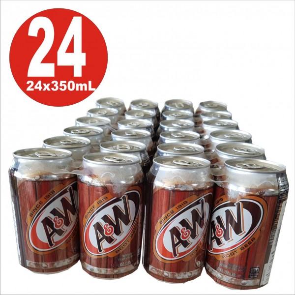 24x0,355ml Dosen A&W Rootbeer Softdrink aus USA inkl. 6 Euro DPG-Pfand_EINWEG