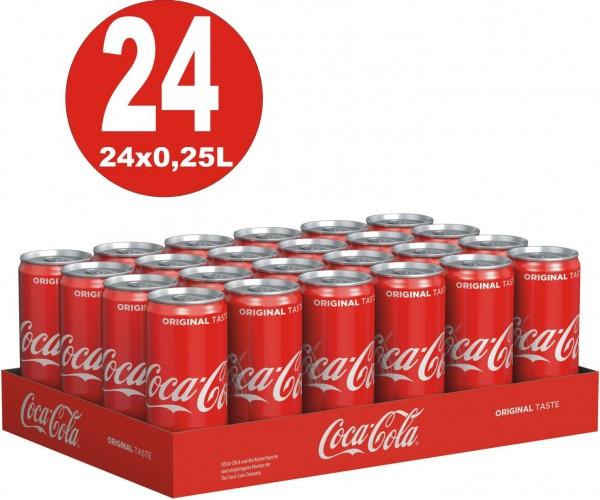 24 x Coca-Cola Classic 0,25L kleine Dosen_EINWEG