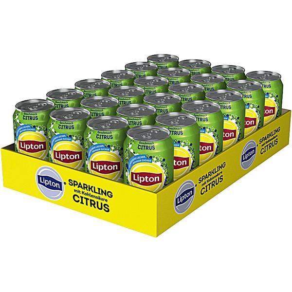 Lipton Sparkling Citrus Eistee 24 x 0,33L Dose Einweg
