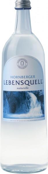 2 x Hornberger Lebensquell naturelle 6 x 1Liter stilles Wasser Glasflasche Originalkiste MEHRWEG