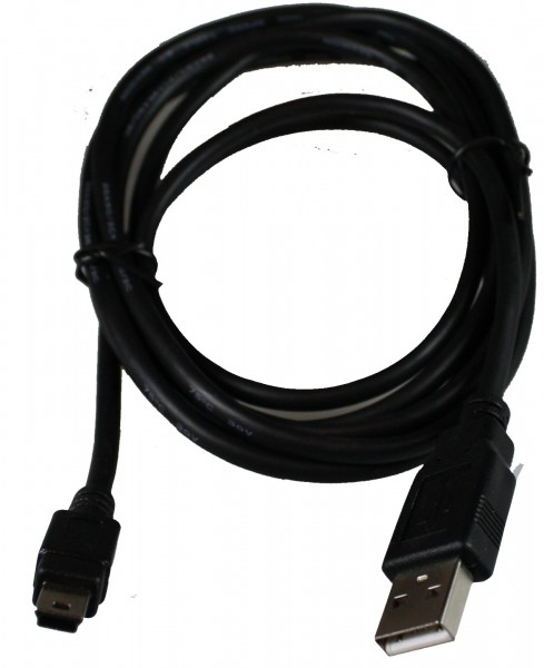 Computer USB - Mini USB Kabel 1,8m schwarz