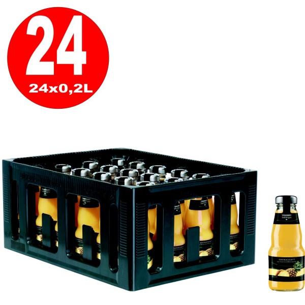 24 x Niehoffs Vaihinger Ananassaft 0,2l Glasflasche in Originalkiste MEHRWEG