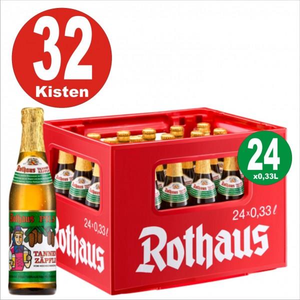 32 Kisten x 24 x Rothaus Tannenzäpfle 0,33 L- 5,1 % Alkohol Originalkiste-auf Europalette MEHRWEG