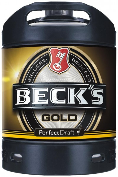 Becks Gold Perfect Draft Gold 6 liter Fass 4,9 % vol. MEHRWEG