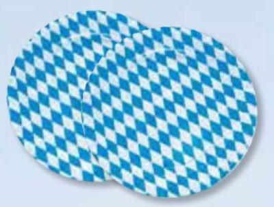 10 Stück Bayern Teller Pappe ...rund Durchmesser 23 cm Bayerbraute