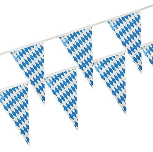 1 x 10-m-Kunststoff Wimpelkette Bayern 10 Meter lang