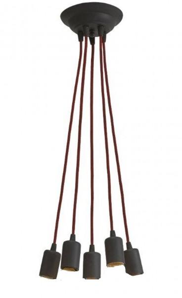 350/5 - Lampex Pendelleuchte Moderne 5 metal/glass 80 x 38 cm ohne Leuchtmittel