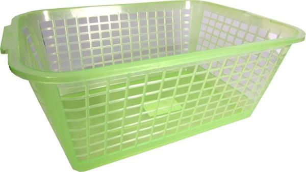 OKT Körbchen grün Transparent 35x26x15cm