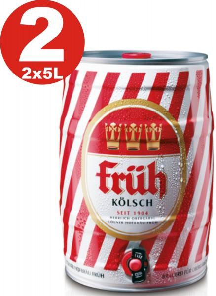 2 x Früh Kölsch 5 L Partyfass 4,8 % vol.