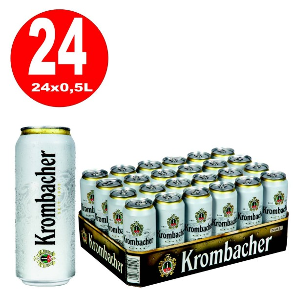 24x0,5L Dosen Krombacher Pils 4,8% Vol._EINWEG