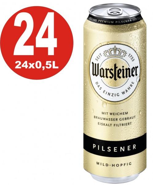 Warsteiner Pilsener 24x0,5L Dosen 4,8% Vol_EINWEG