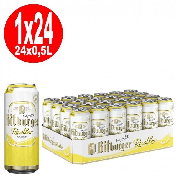 24x0,5L Dosen Bitburger Radler 2,5% Vol._EINWEG