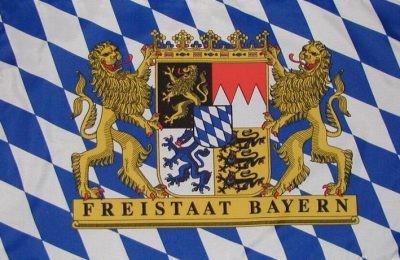 Wimpel / Flaggenkette Bayern Freistaat mit Wappen 6 Meter