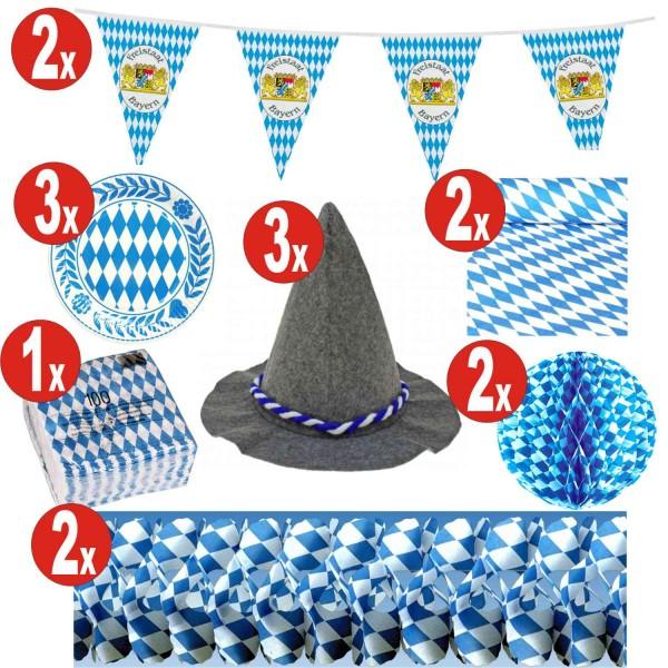 15 teiliges Oktoberfest Deko Set_15 = 141 Artikel